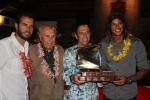 Team Mexico, Eduardo Arena and ISA President Fernando Aguerre. Credit: ISA