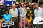Team Australia, ISA President Fernando Aguerre and Eduardo Arena. Credit: ISA / Michael Tweddle