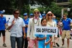 ISA Judges, ISA President Fernando Aguerre and Florencia Gomez Gerbi. Credit: ISA / Michael Tweddle