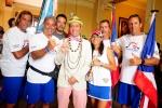 Team Puerto Rico and ISA President Fernando Aguerre. Credit: ISA / Michael Tweddle