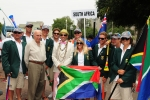 Team South Africa, Eduardo Arena and ISA President Fernando Aguerre. Credit: ISA / Michael Tweddle