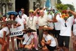 Team Mexico,  ISA President Fernando Aguerre and Eduardo Arena. Credit: ISA / Michael Tweddle