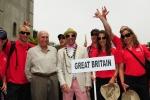 Team Great Britain,  ISA President Fernando Aguerre and Eduardo Arena. Credit: ISA / Michael Tweddle