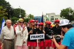 Team FRance, ISA President Fernando Aguerre and Eduardo Arena. Credit: ISA / Michael Tweddle