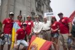 Team Spain, Eduardo Arena and ISA President Fernando Aguerre. Credit:ISA/ Rommel Gonzales