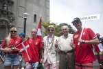Team Denmark, Eduardo Arena and ISA President Fernando Aguerre. Credit:ISA/ Rommel Gonzales
