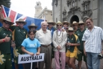 Team Australia, Eduardo Arena and ISA President Fernando Aguerre. Credit:ISA/ Rommel Gonzales