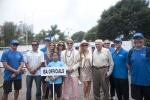 Karin Sierralta, ISA President Fernando Aguerre,  Florencia Gomez Gerbi, Eduardo Arena. Credit:ISA/ Rommel Gonzales