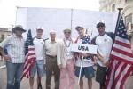 Team USA, Eduardo Arena and ISA President Fernando Aguerre. Credit:ISA/ Rommel Gonzales
