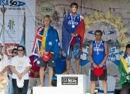 Medalistas Men's Sup Long Distance Race. Credit: ISA/Michael Tweddle