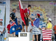 Medalists Men's SUP Surfing. Credit: ISA/Michael Tweddle