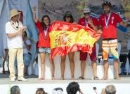 Team Spain Relay Bronze Medalist. Credit: ISA/Michael Tweddle