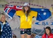 Women's Medalists SUP Surfing. Credit: ISA/Michael Tweddle