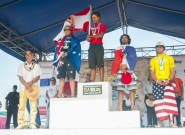 Men's SUP Surfing Medalists. Credit: ISA/Rommel Gonzales
