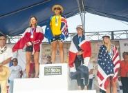 Women's SUP Technical Race. Credit: ISA/Rommel Gonzales