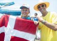 DEN - Nicoline Rassmussen and Isa President Fernando Aguerre. Credit: ISA/Rommel Gonzales