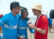 GUA - Pedro Vergara, Gefrey and ISA President Fernando Aguerre. Credit: ISA/Michael Tweddle