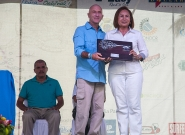 ISA Vice President Alan Atkins and Mayor Of Granada Julia Maen. Credit: ISA/Rommel Gonzales