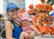 Johanna Andreani and Kiara at the Parade Of Nations. Credit: ISA/Michael Tweddle