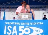 ISA Vice President Karin Sierralta, Johanna Andreani and Kiara. Credit: ISA/Michael Tweddle