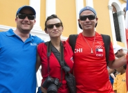 Philippe and Team Chile at the Parade of Nations. Credit: ISA/Michael Tweddle
