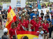 Team Spain at the Parade Of Nations. Credit: ISA/Michael Tweddle