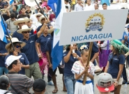 Team Nicaragua at the Parade Of Nations. Credit: ISA/Michael Tweddle