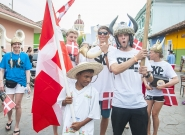 Team Denmark at the Parade of Nations. Credit: ISA/Rommel Gonzales