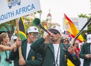 Team South Africa at the Parade of Nations. Credit: ISA/Rommel Gonzales