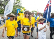 Team Australia at the Parade of Nations. Credit: ISA/Rommel Gonzales