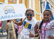 Team Barbados at the Parade Of Nations. Credit: ISA/Rommel Gonzales