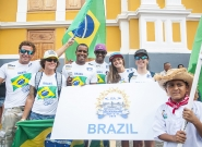 Team Brasil at the Parade Of Nations. Credit: ISA/Rommel Gonzales