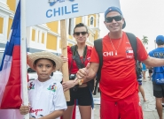 Team Chile at the Parade Of Nations. Credit: ISA/Rommel Gonzales