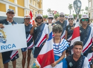 Team Costa Rica at the Parade Of Nations. Credit: ISA/Rommel Gonzales