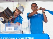 Team El Salvador at the Open Ceremony. Credit: ISA/Rommel Gonzales