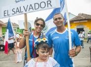 Team El Salvador at the Parade Of Nations. Credit: ISA/Rommel Gonzales