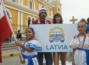 Team Latvia. Credit: ISA/Michael Tweddle