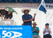 Team Nicaragua at the Open Ceremony. Credit: ISA/Rommel Gonzales