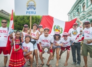 Team Peru at the Parade Of Nations. Credit: ISA/Rommel Gonzales