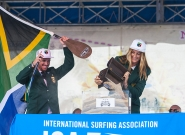 Team South Africa at the Open Ceremony. Credit: ISA/Rommel Gonzales