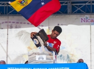 Team Venezuela at the Open Ceremony. Credit: ISA/Rommel Gonzales