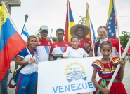 Team Venezuela at the Parade Of Nations. Credit: ISA/Rommel Gonzales
