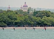 Sup Granada Cathedral Lake Nicaragua. Credit: ISA/Michael Tweddle