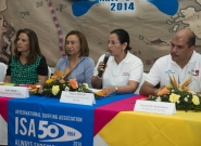 Local Organizer Lucy Valenti, Mayor Of Granada Julia Mena,  Executive of INTUR Mayra Salinas and Mayor of Diriamba Fernando Baltodano. Credit: ISA/Michael Tweddle