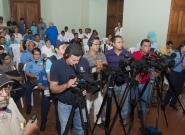 Press Conference. Credit: ISA/Michael Tweddle