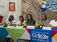 Norwin Estrella, Ana Urroz, Local Organizer Lucy Valenti, Mayor Of Granada Julia Mena and  Executive of INTUR Mayra Salinas. Credit: ISA/Michael Tweddle