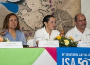 Mayor Of Granada Julia Maena, Executive of INTUR Mayra Salinas and Mayor of Diriamba Fernando Baltodano. Credit: ISA/Rommel Gonzales