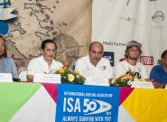 Mayor of Granada Julia Maena, Executive of INTUR Mayra Salinas, Mayor of Diriamba Fernando Baltodano, Casper Steinfath from Denmark and Team Manager of Ncaragua Ronaldo Urroz. Credit: ISA/Rommel Gonzales
