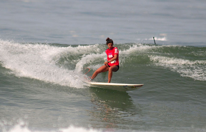 SUP Surfing Women's Gold Medalist, Nicole Pacelli from Brazil, will return once again to the competition to defend her World Champion title. Photo: ISA/Michael Tweddle.