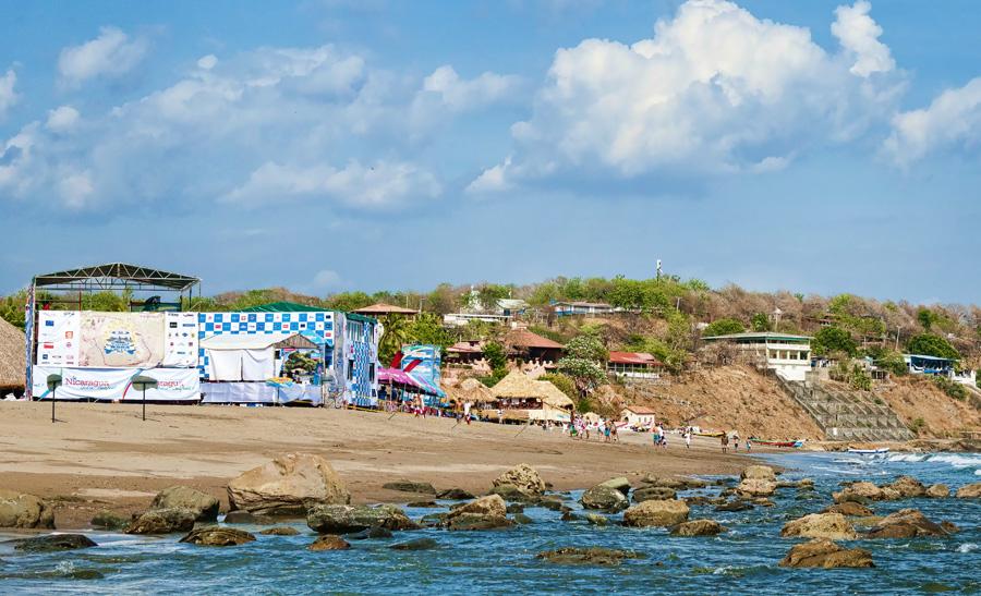The event site at La Boquita Beach. Photo: ISA/Michael Tweddle